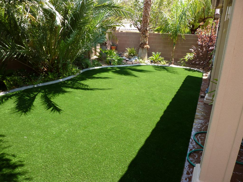 Pictures for desert greenscapes water wise grass and for Garden design ideas artificial grass