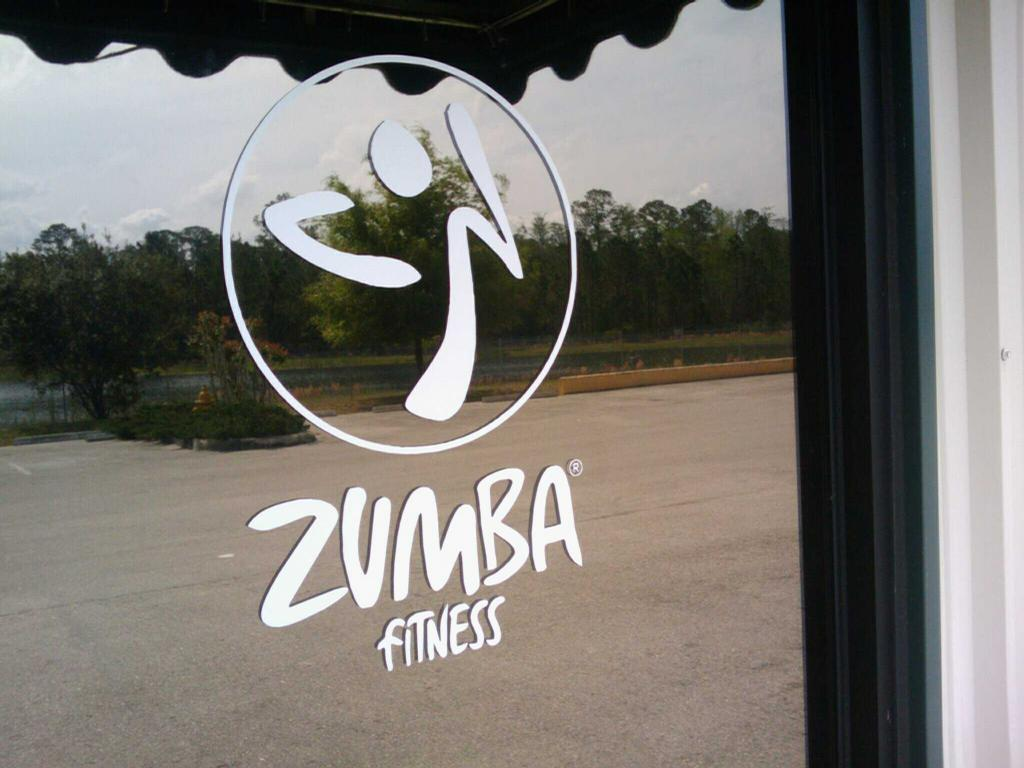 Zumba fitness logo from original car decals in jacksonville