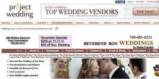 rev ron weddings joins projectwedding.com