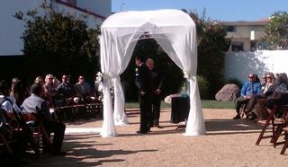 San Clemente Garden Wedding in the Round