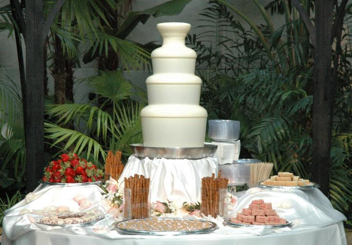Wedding Reception Chocolate Fountain Rental With Customization At