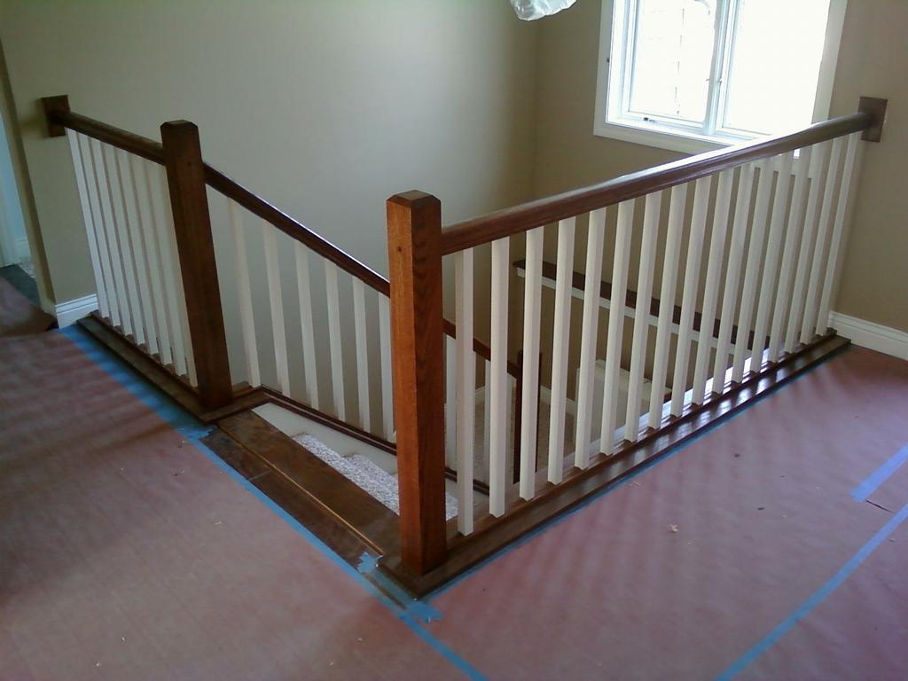 Interior stair railing from vanderhoff construction in - Interior stair railing contractors ...