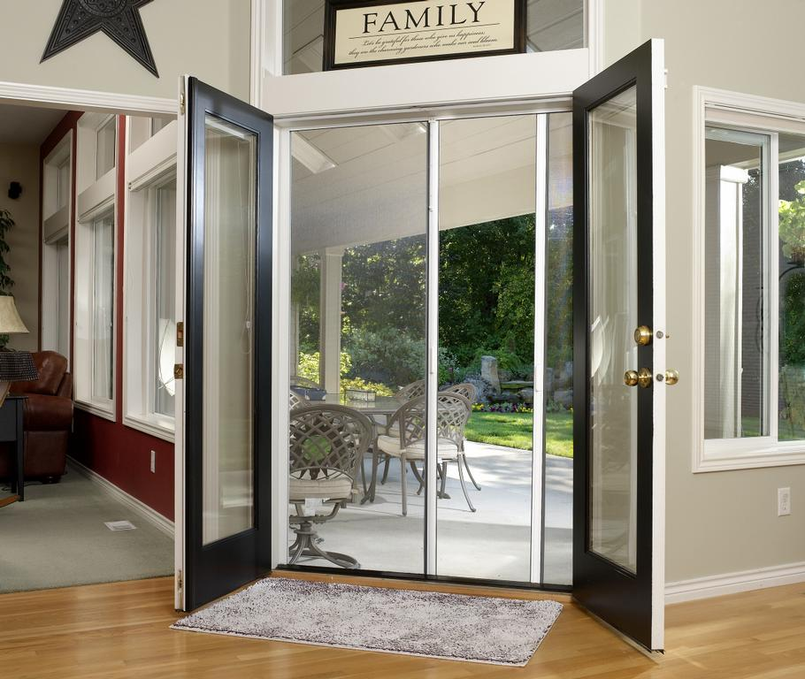 Genius french door retractable screen from act retractable for What is the best retractable screen door
