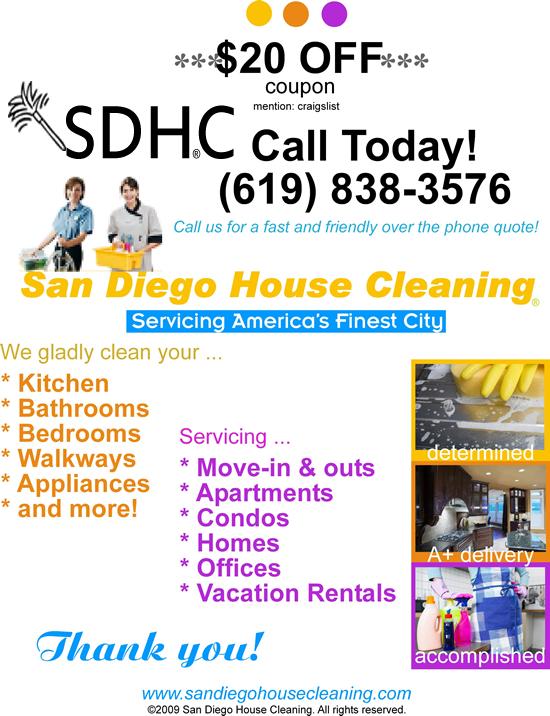 San Diego House Cleaning San Diego CA