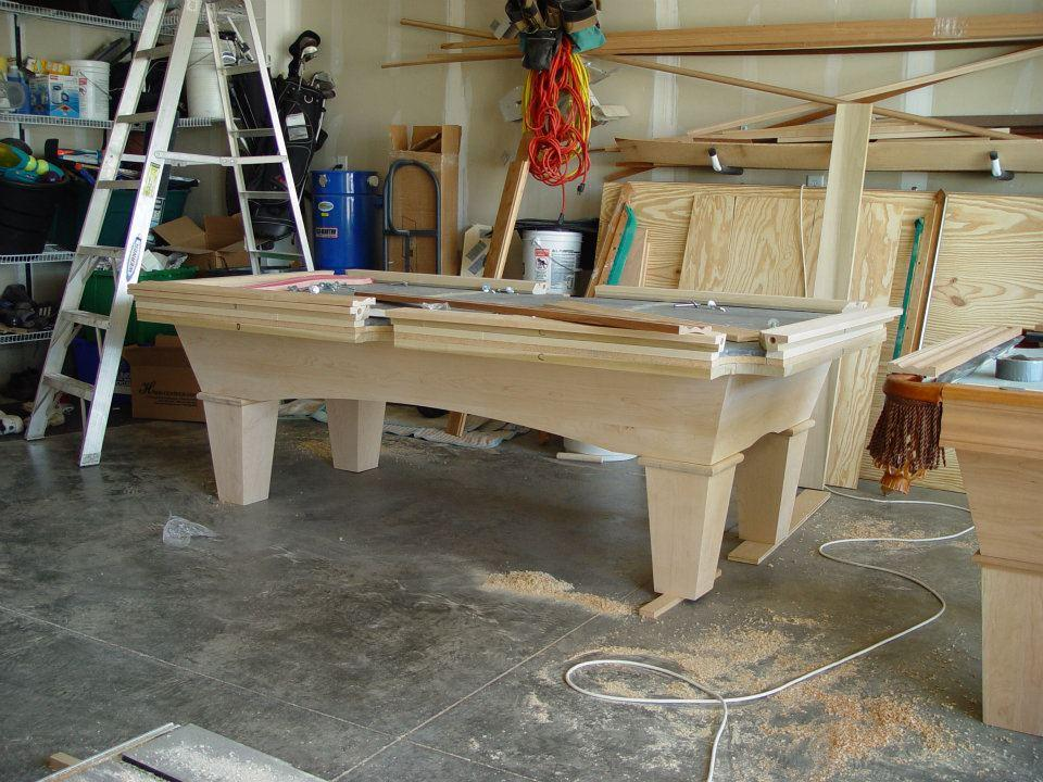 Building pool table from hunter riley construction in for How to build a billiard table
