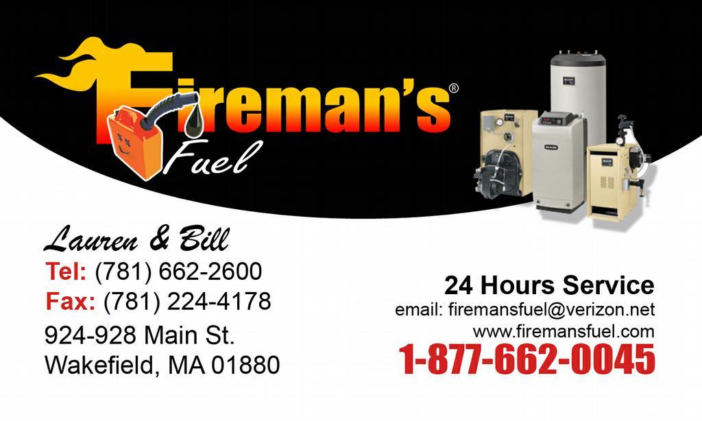 Fireman S Fuel Oil Wakefield Ma 01880 877 662 0045