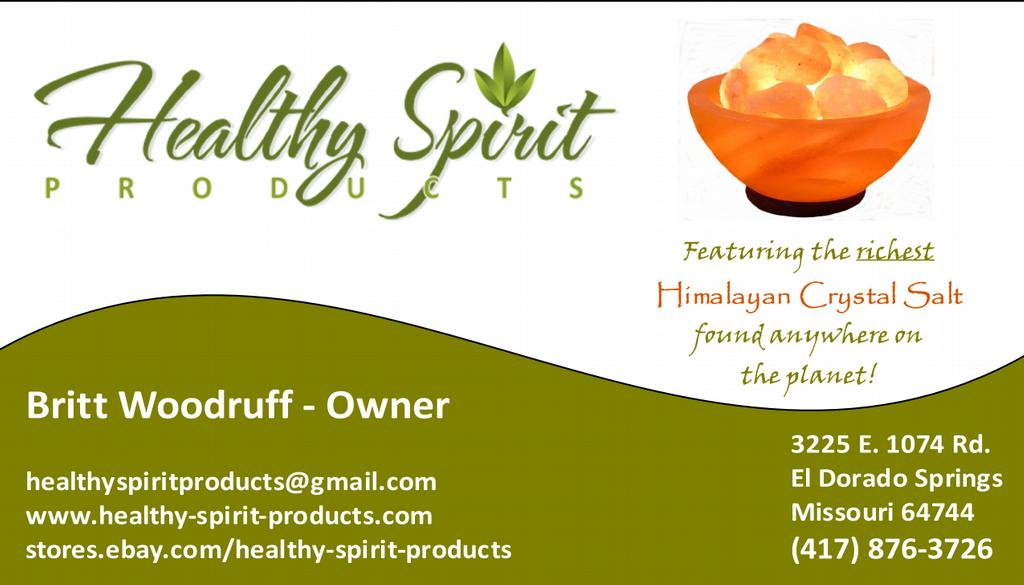 Business Card January 2011 from Healthy Spirit Products in El Dorado ...