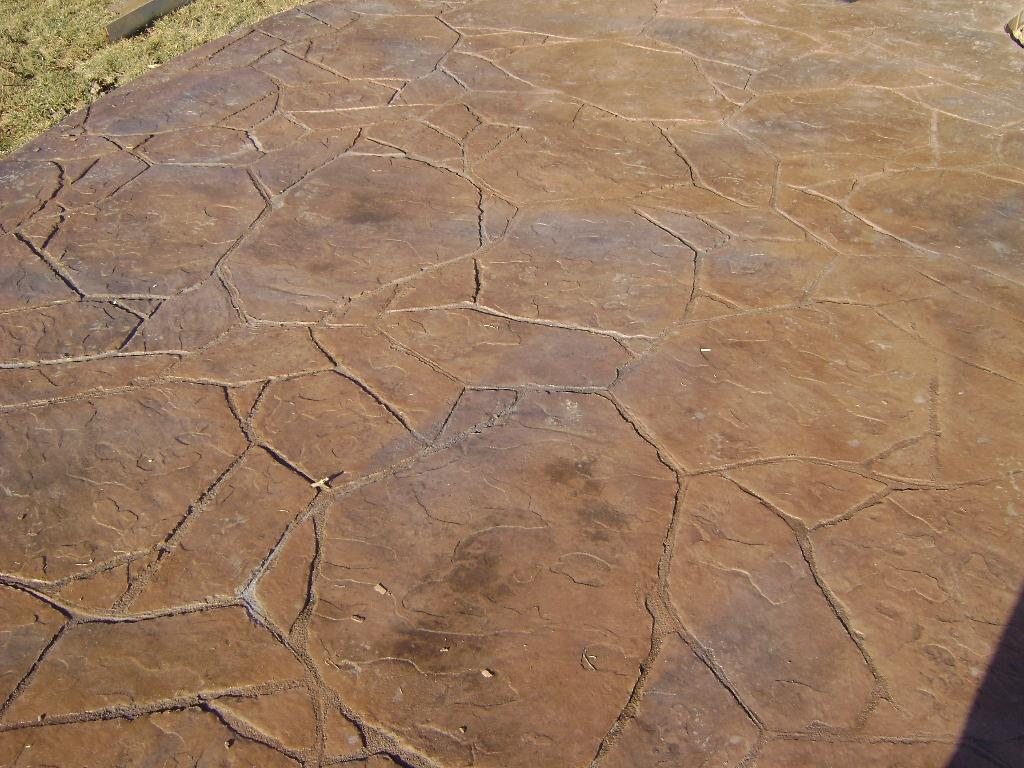 Decorative Patio Stamped Concrete Arizona Flagstone From