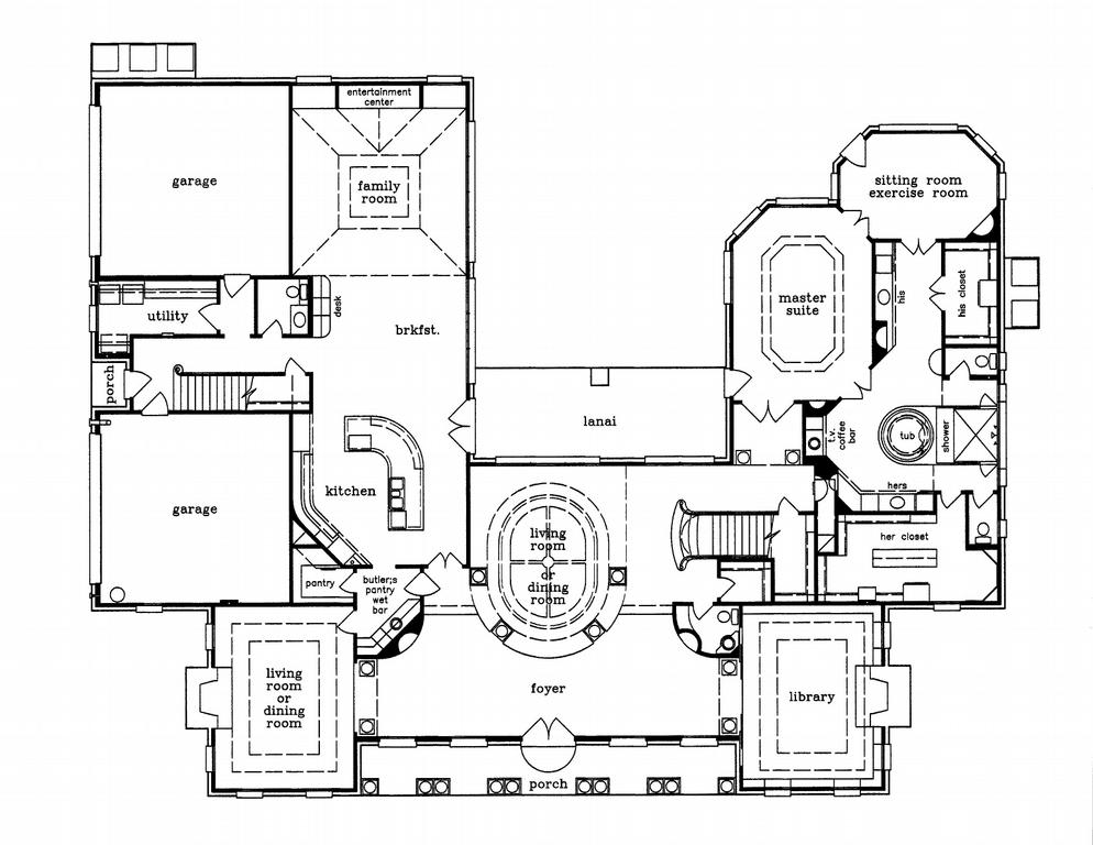 estate custom home design first floorjpg