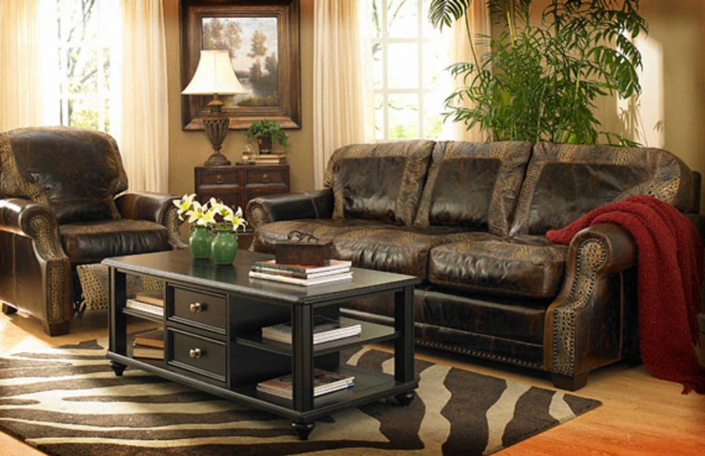 Rustic Leather Living Room Furniture Home Design Scrappy