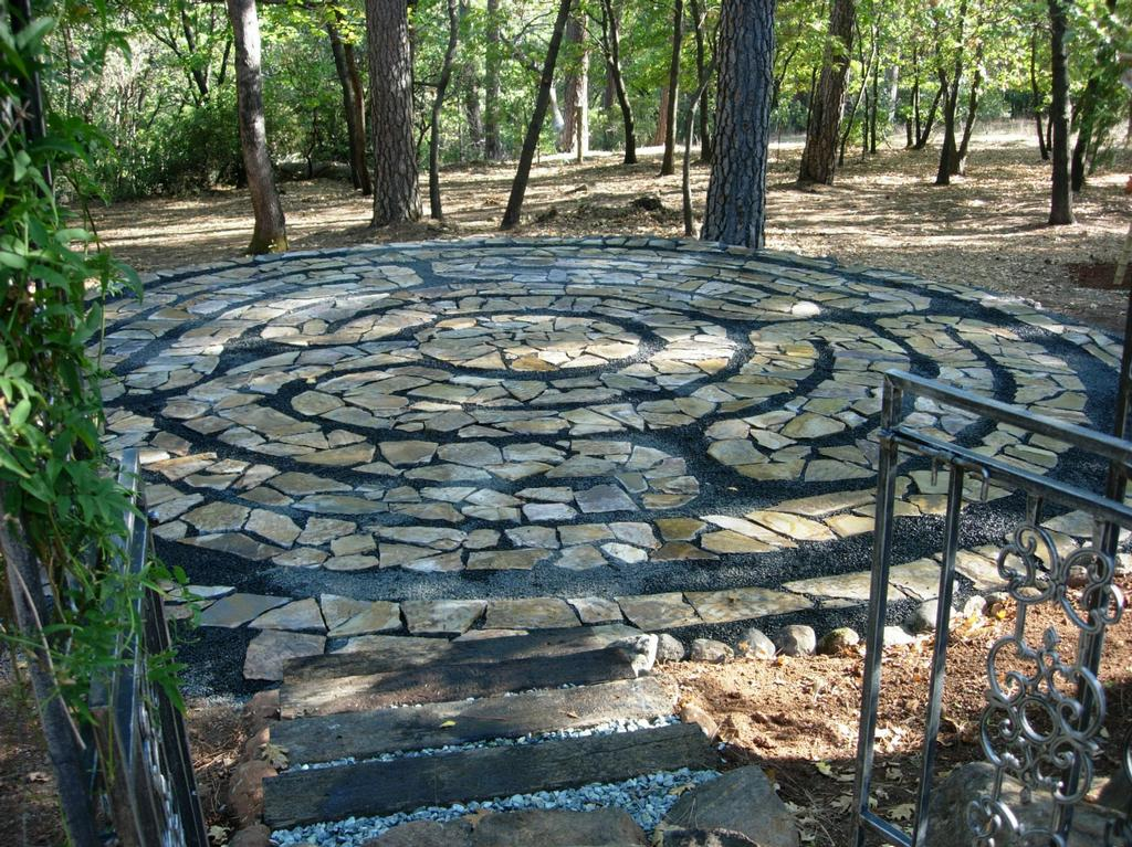 Paradise Design Labyrinth Through The Garden Gate From