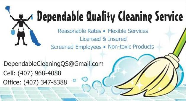 Dependable Quality Cleaning Service Business Card 2 from