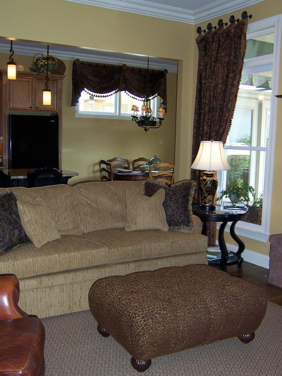 Living Room Brown Curtains from KLP Interior Designs in Franklin ...