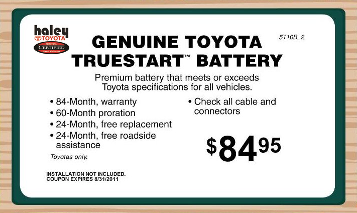 Toyota Genuine Batteries Va Toyota Service Center In