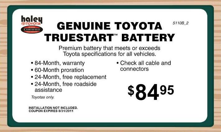 Toyota Genuine Batteries Va Toyota Service Center In