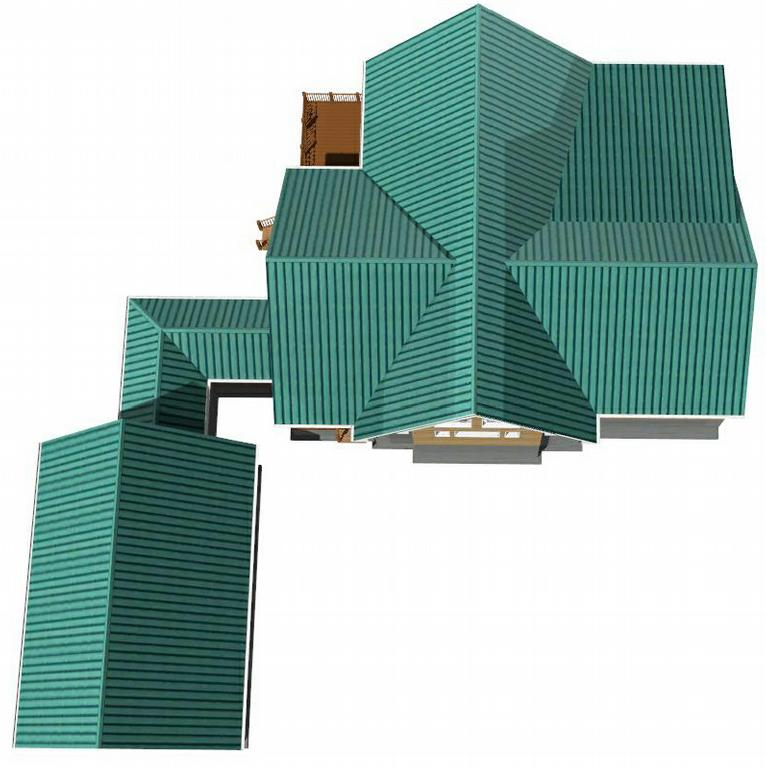 3d Render Top View Cabin From Residential