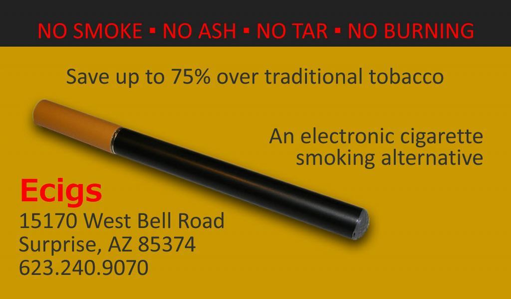 Ecigs Electronic Cigarettes Smoking Alternatives