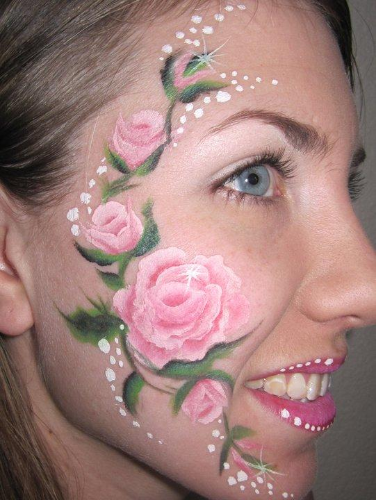 Rose Face Paint From Art Z Faces In Jacksonville FL 32219 Artists
