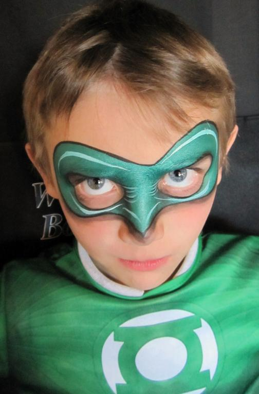 Green lantern mask face paint - photo#13