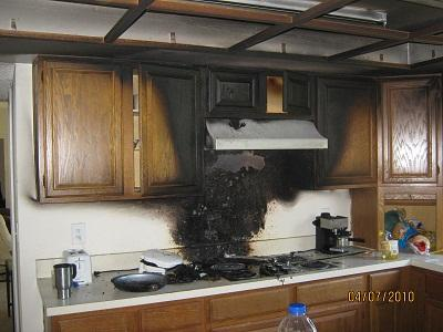 kitchen fire stove from apex emergency services in lakeland, fl, Kitchen