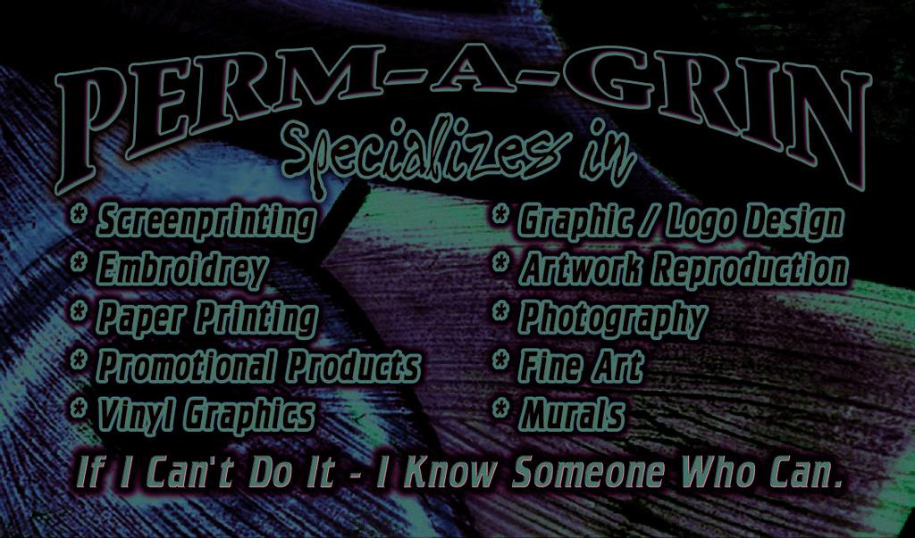 Perm a grin t shirt screen printing vinyl graphics