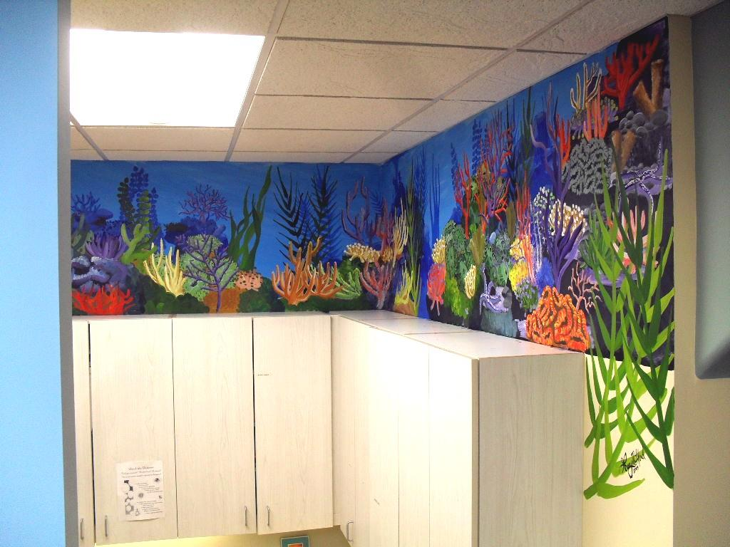 Coral reef mural from cry of the wolf creative design in for Coral reef mural