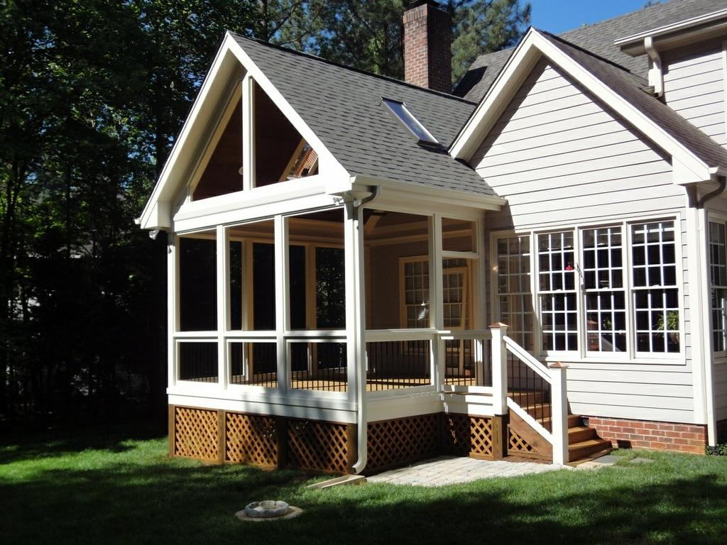 Gable roof from wilmington deck and screen porch builder for Screen porch roof options