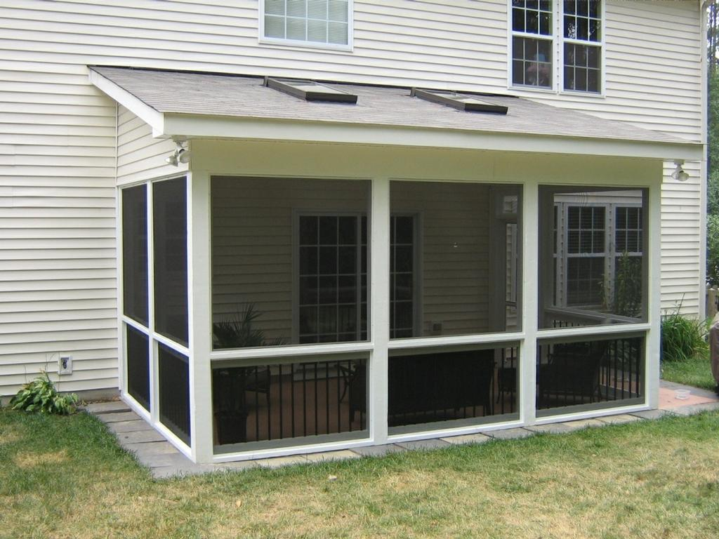 Shed roof sun room addition for two story homes project Shed with screened porch