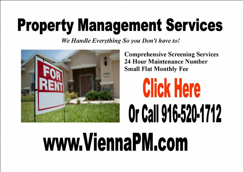 Flyer From Vienna Property Mgmt Rocklin Property