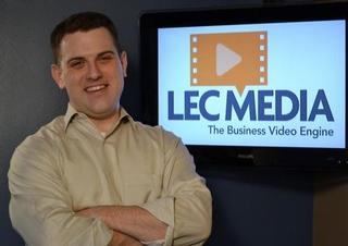 Charlotte corporate video production company LEC Media speaks at business symposium.