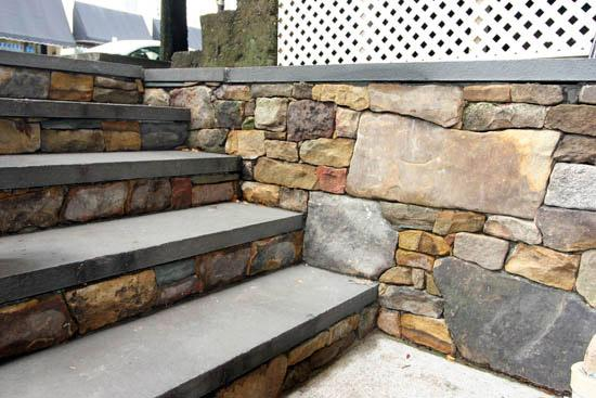 Steps Dry Stack Stone Walls Bluestone Treads Jpg From Tim