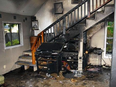 Nc Fire Damaged House From Water Damage Claim Raleigh Cary