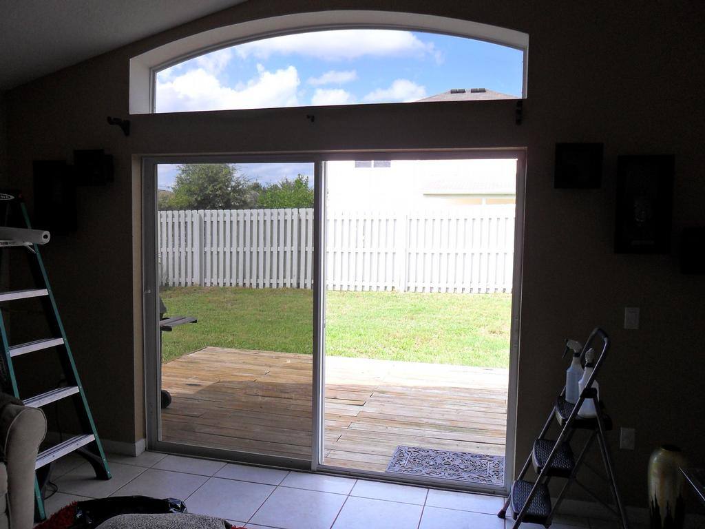 Back room sliding doors from j mobile window tinting in for Back door sliding door