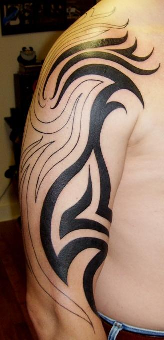 Tribal sleeve tattoos-120