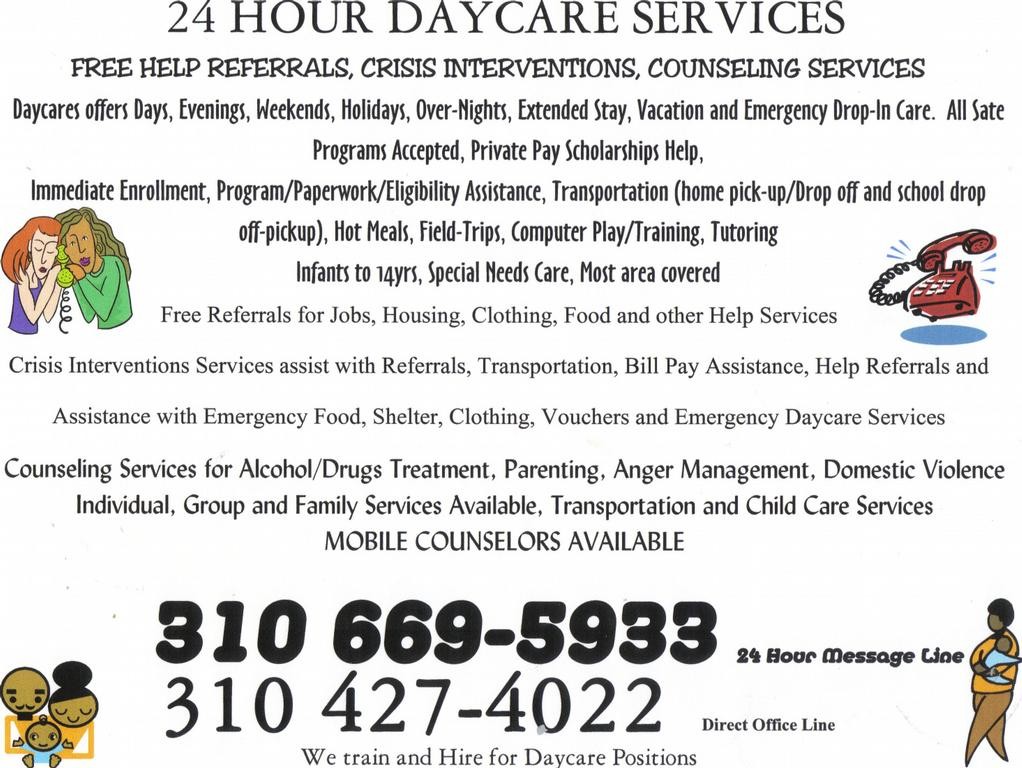 daycare flyer by 24 hour daycare services crisis intervention