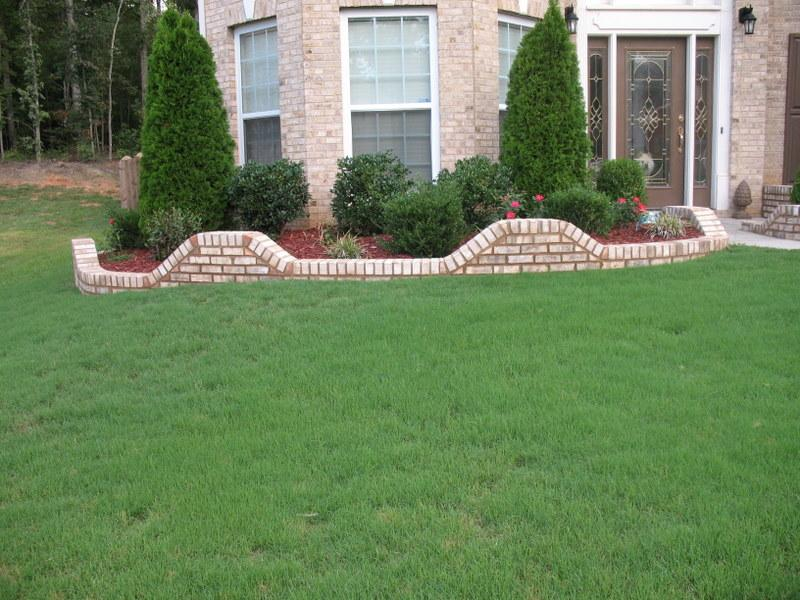 how to build a brick flower bed