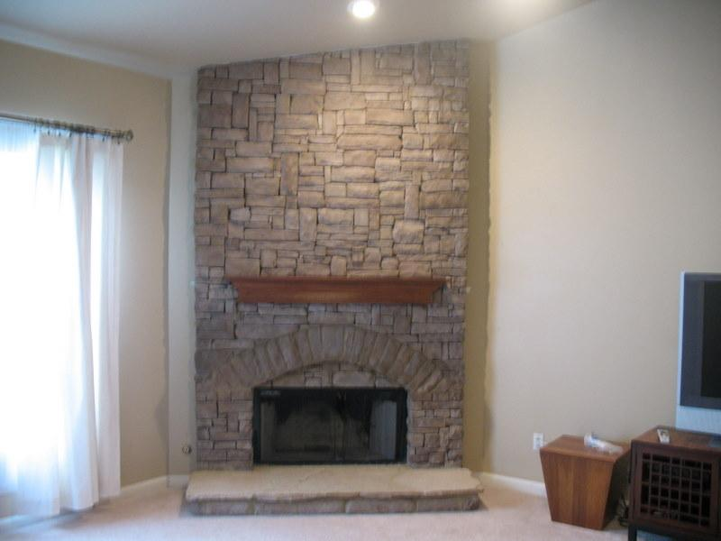 Indoor stack stone fireplace. from jackpot construction in ...
