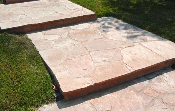 Arizona Buff Sandstone Flagstone Stairs From Mk