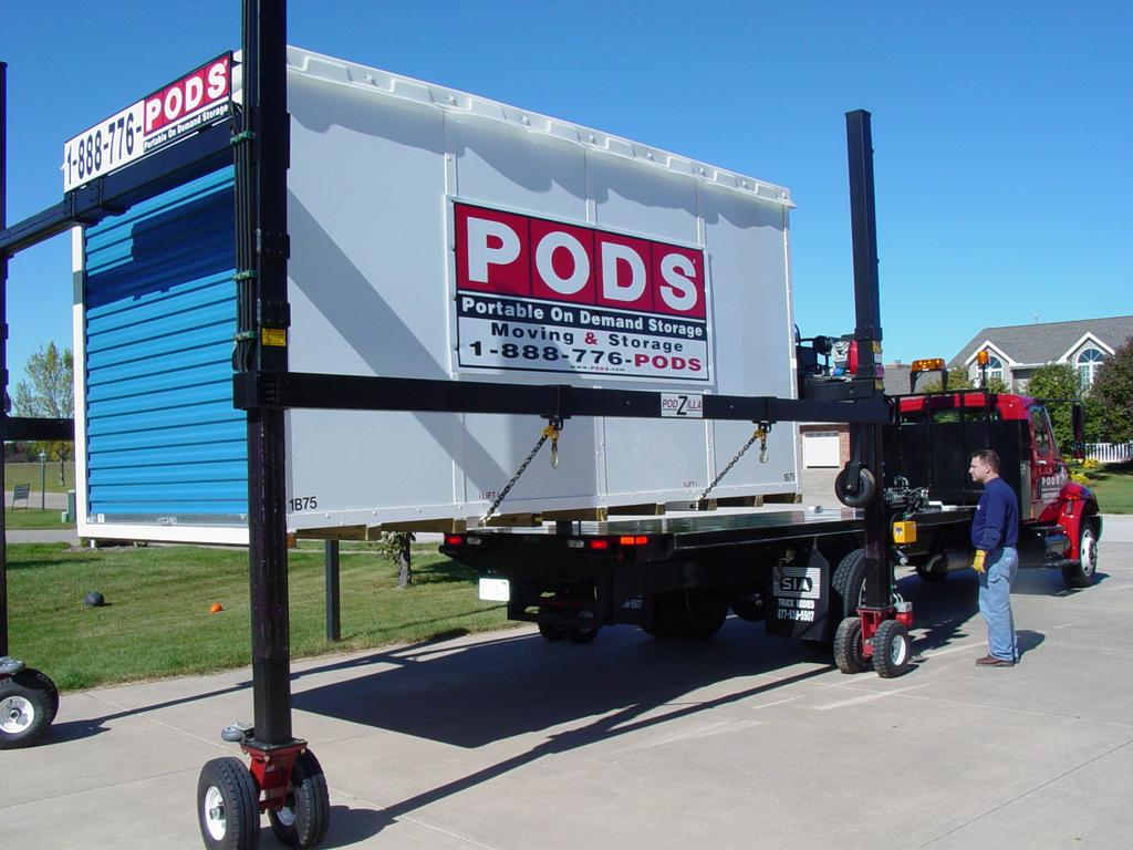 Renting A Pod For Storage : Pods peoria moving and storage il