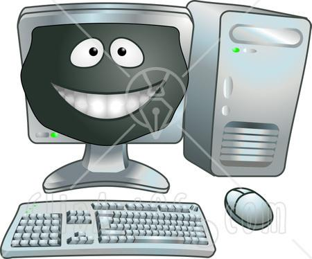 computer viruses cartoon. 11912-Happy-Computer-Cartoon-