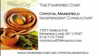 Crystal business card pc 1 from pampered chef with crystal mansfield pampered chef with crystal mansfield colourmoves Images