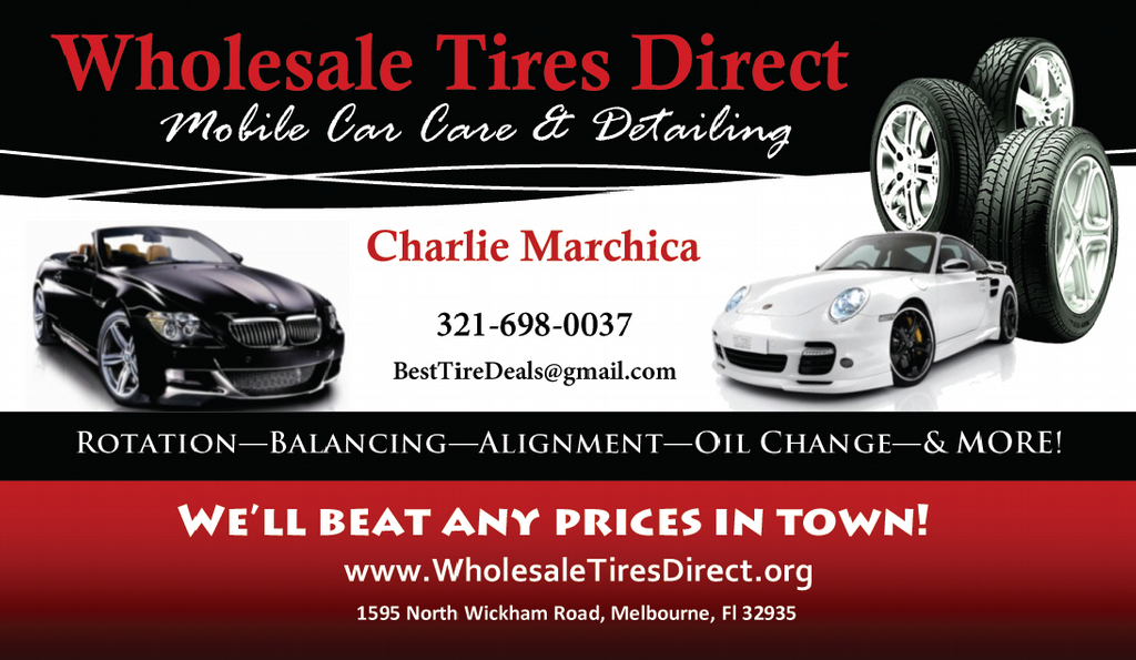 Cards business from wholesale tires direct detailing in for Tire shop business cards