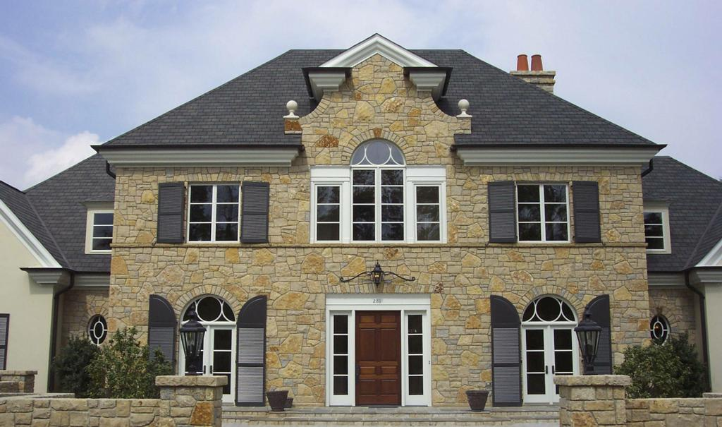 Carolina stone masonry natural stone home exterior from for Exterior natural stone for houses