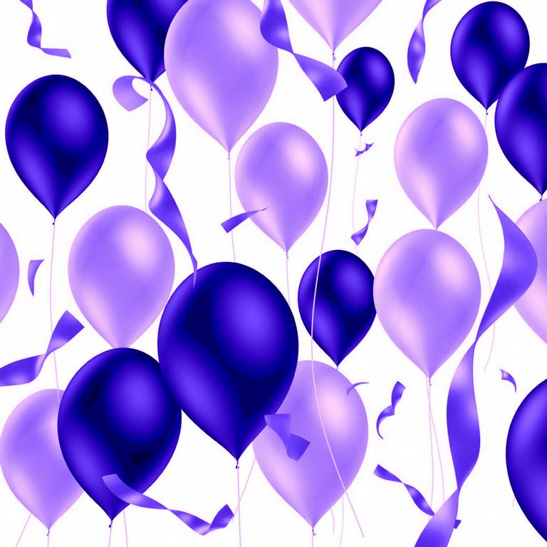 Purple Balloons from Relay For Life of Greater Milford (part of