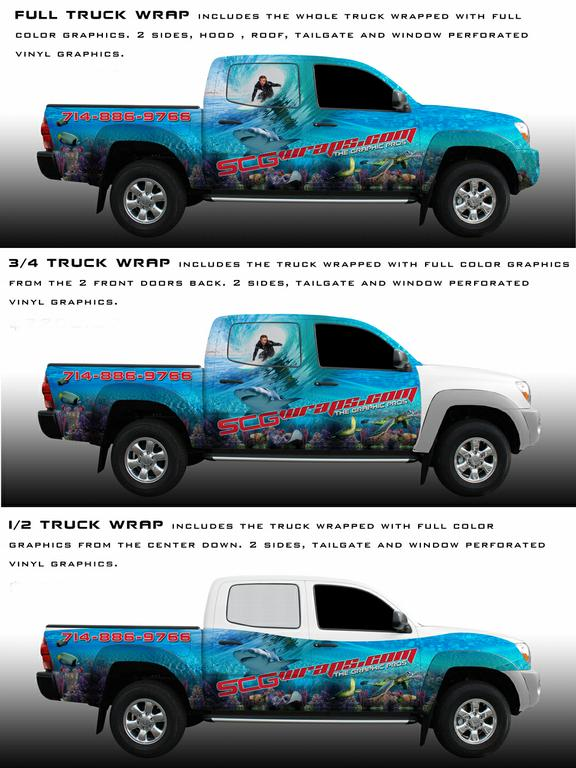 Truck Vehicle Wrap Options From Surf City Graphics Your