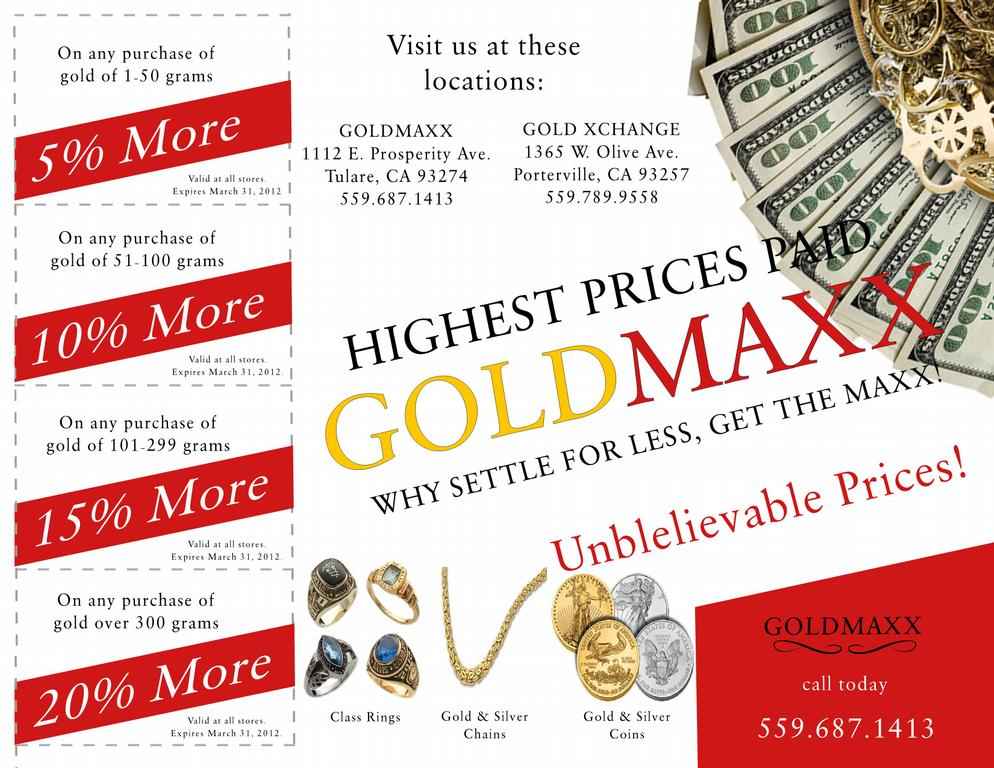 Gold xchange cash for gold porterville tulare visalia for Jewelry repair fresno ca