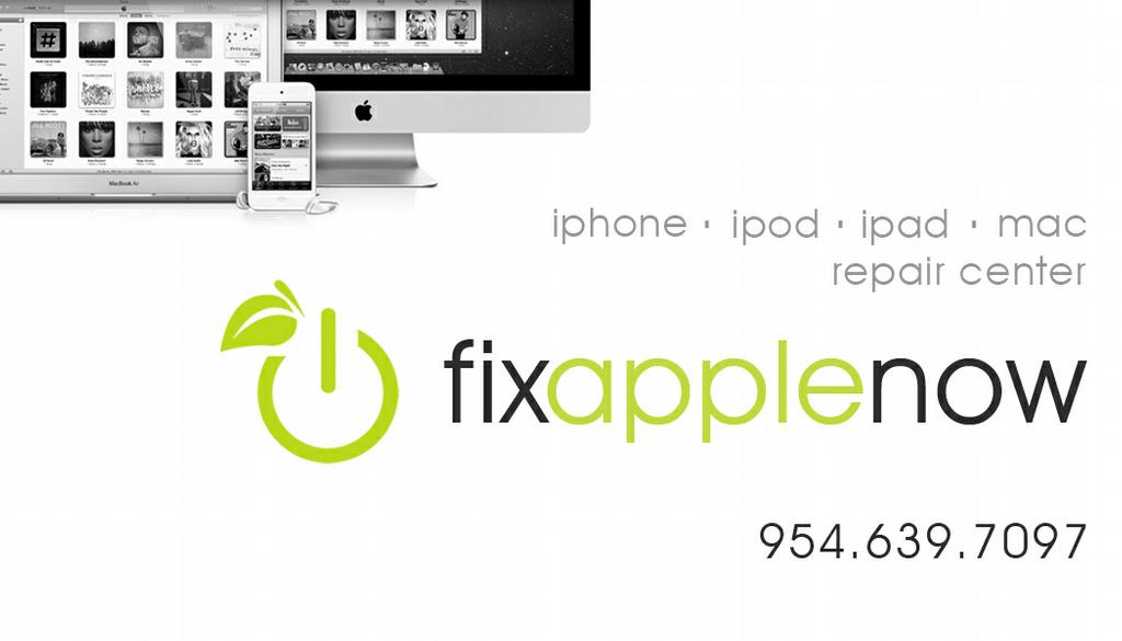 businesscard - front from Fix Apple Now - Mac Repair, iPhone, iPod ...