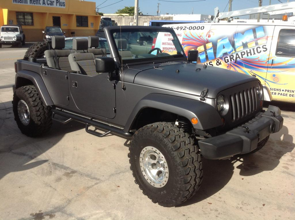 Jeep Sahara Matte Black Wrap From Miami Signs And Graphics
