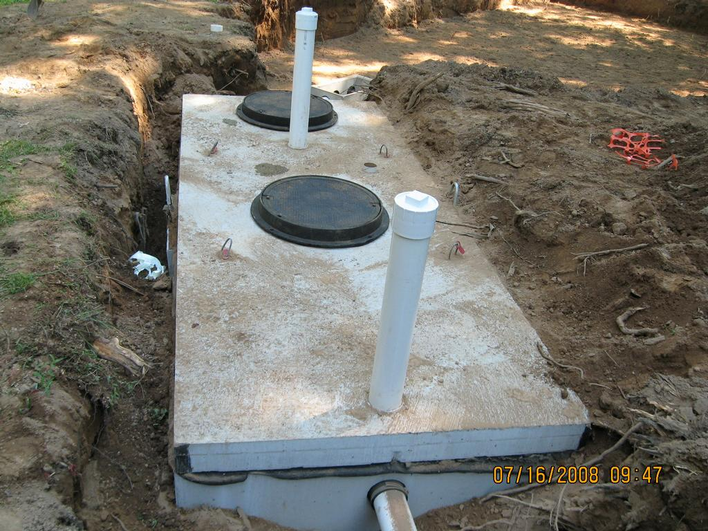 septic tank hook up