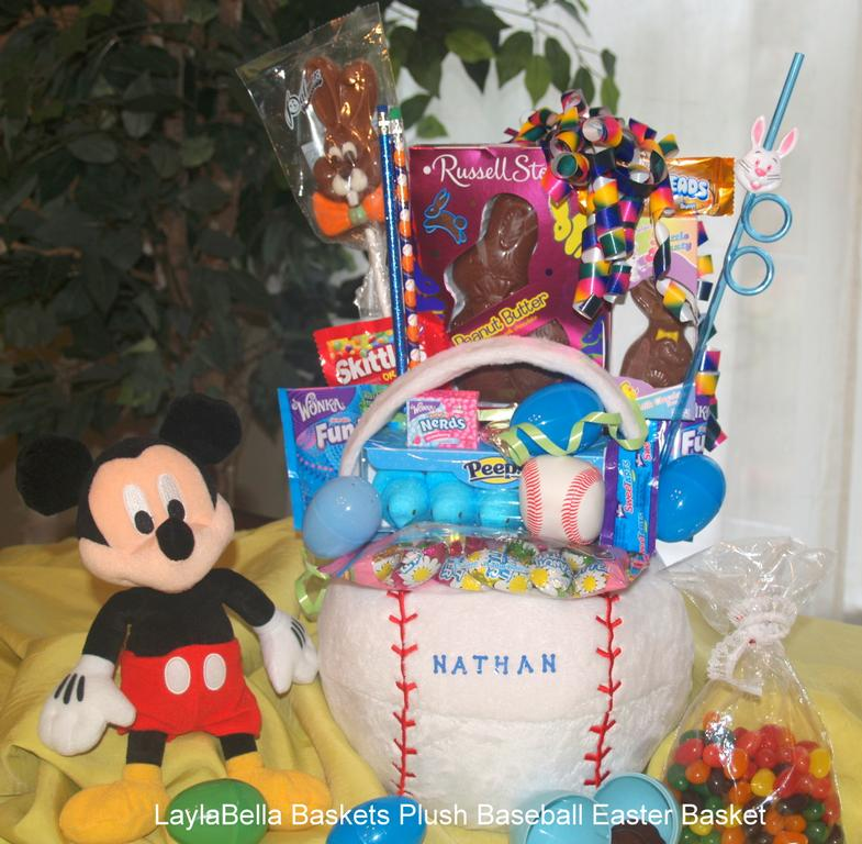 Laylabella baskets plush baseball easter basket personalized from by laylabella sweet shoppe negle Images